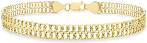 Carissima Gold 9 ct Yellow Gold Figure 8 Curb Bracelet of 19 cm/7.5-inch
