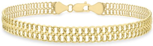Carissima Gold 9 ct Yellow Gold Figure 8 Curb Bracelet of 19 cm/7.5 inch