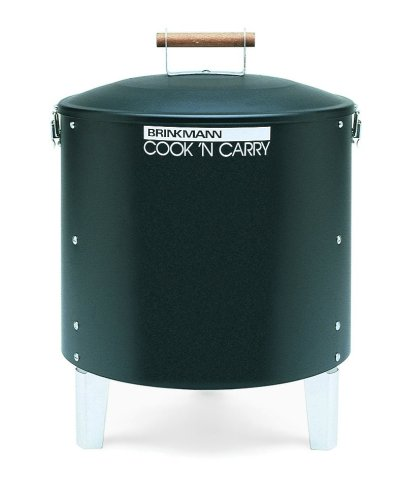 Brinkmann 810-5030-6 Cook'N Carry Charcoal Smoker and Grill, Black