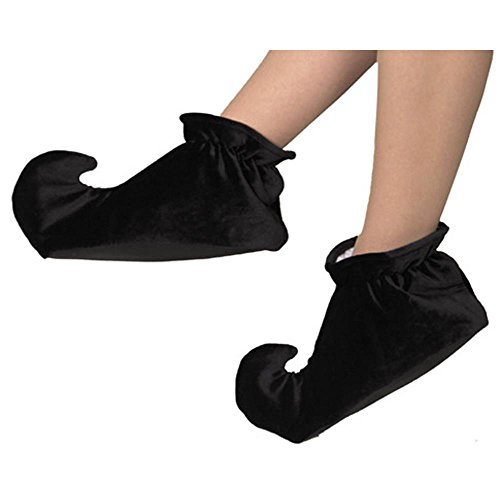 Child's Black Jester Costume Shoes (Size:Small)
