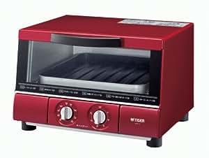 TIGER オーブントースター やきたて ワイドタイプ レッド  KAE-G130-R