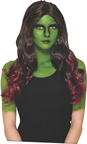Rubie's Costume Women's Marvel Universe Guardians Of The Galaxy Gamora Wig, Multicolor, One Size