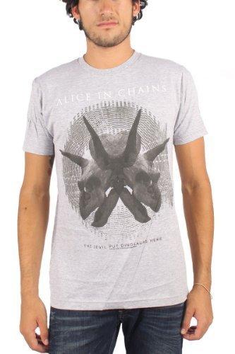 Alice In Chains - Uomo Tar Pit T-Shirt in Grigio, Medium, Grigio