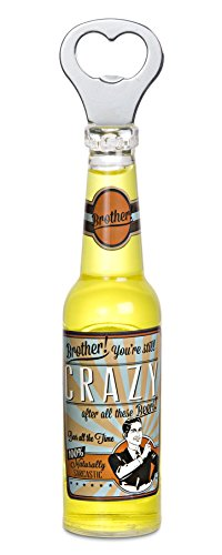 Pavilion Gift Company 22097 Brother Magnetic Bottle Opener, 8-1/4-Inch, Beer All The Time front-272003