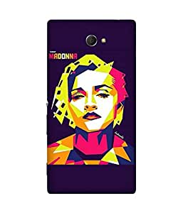 Madonna Art Sony Xperia M2 Case