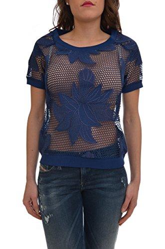 <p>LIU JO SPORT T-shirt rete ricamo floreale donna, T16088-J7692 94027 blu, regular</p>