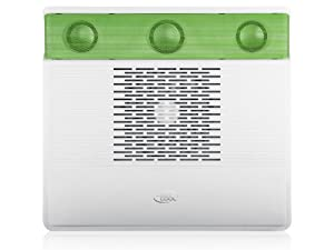 DEEPCOOL M3 GREEN NOTEBOOK COOLER UPTO 15.6? W/ 140MM FAN W/ 2.1 SUBWOOFER ADJUSTABLE SPEED AND 1 USB PORT available at Amazon for Rs.1670