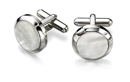 fred-bennett-boutons-de-manchette-acier-inoxydable-nacre-v482