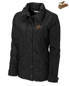 Baltimore Orioles Ladies WeatherTec Granite Falls Jacket Black by Cutter & Buck