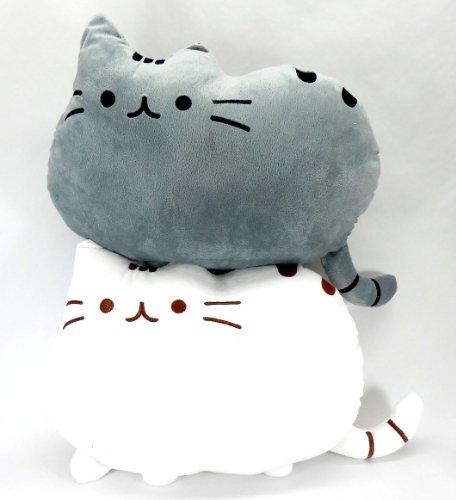 フワフワ 柔らか かわいい ネコ クッション 抱き枕 オフィス用にも (2個セット)