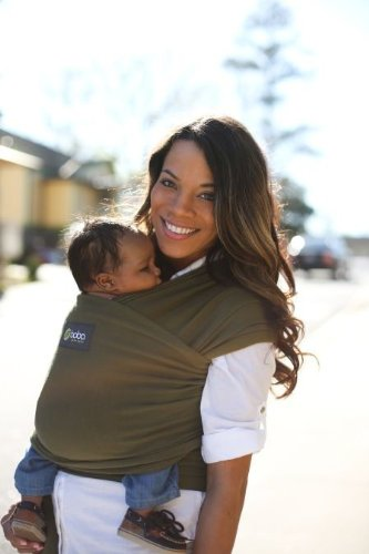 Boba Baby Wrap - Dark Green - One Size front-883426