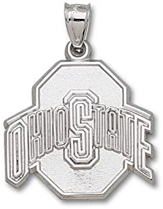 Ohio State Buckeyes 1 Athletic O Pendant - 10KT White Gold Jewelry by Logo Art
