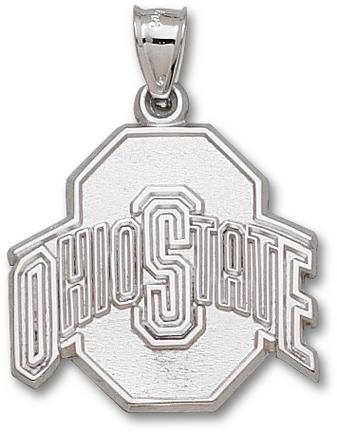 Ohio State Buckeyes OSU NCAA Sterling Silver Charm