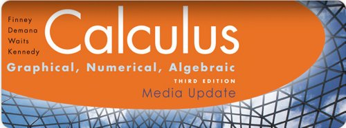 Finney, Demana, Waits, Kennedy, Calculus: Graphical, Numerical, Algebraic, Media Update ©2010: Student Edition (NATL)
