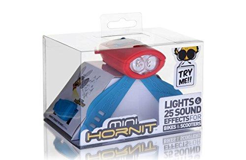 ミニ・ホーニット レッド/ブルー キッズバイク・スクーター用電子ホーン・ライト【日本正規輸入品】