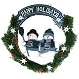 Seattle Seahawks Team Snowman Wreath at Amazon.com