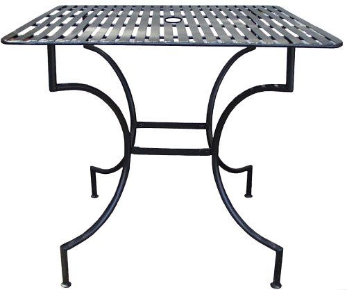 PTC Home & Garden Park Square Table with 2-Inch Umbrella Holder, Pewter - Buy PTC Home & Garden Park Square Table with 2-Inch Umbrella Holder, Pewter - Purchase PTC Home & Garden Park Square Table with 2-Inch Umbrella Holder, Pewter (PTC Home & Garden, Home & Garden,Categories,Patio Lawn & Garden,Outdoor Decor)
