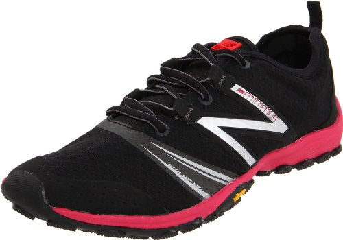 New Balance Women's WT20v2 Minimus Trail Running Shoe,Black/Pink,6.5 B US