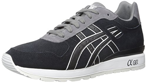 ASICS GT II Retro Running Shoe, Black/Grey, 5.5 M US