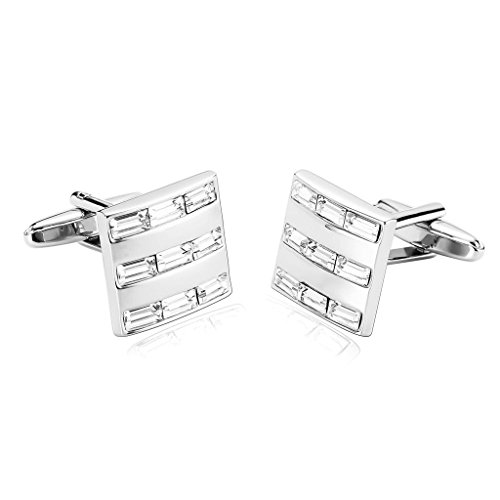 amdxd-jewelry-stainless-steel-men-cufflinks-silver-white-shiny-crystal-square-cuff-links