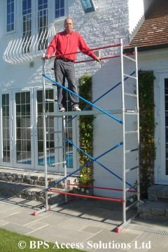 4m DIY Aluminium Scaffold Tower with 2 Outriggers