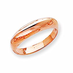 14k Rose Gold Polished Fancy Dome Ring