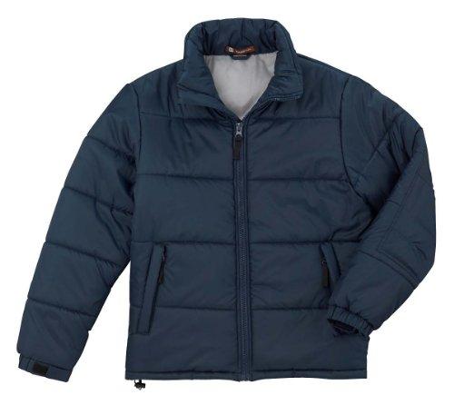 Harriton Stadium Jacket, Xl, Navy / Sport Grey