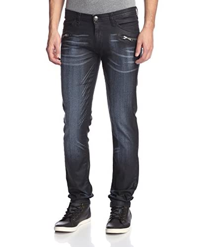 Versace Jeans Men's Waxed Slim Fit Jeans