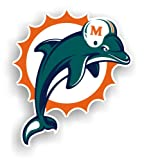 NFL Miami Dolphins 12-Inch Vinyl Logo Magnet at Amazon.com