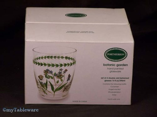 PORTMEIRION BOTANIC GARDEN DOUBLE OLD FASHIONEDS - SET(S) OF 4 - Buy PORTMEIRION BOTANIC GARDEN DOUBLE OLD FASHIONEDS - SET(S) OF 4 - Purchase PORTMEIRION BOTANIC GARDEN DOUBLE OLD FASHIONEDS - SET(S) OF 4 (PORTMEIRION - Made in CHINA, Home & Garden, Categories, Kitchen & Dining, Tableware)