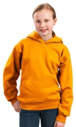 Port & Company Youth Front Pouch Pocket Pullover Hooded Sweatshirt,Large,Gold