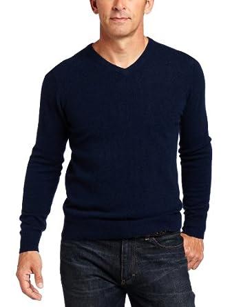 Williams Cashmere Men's 100% Cashmere V-Neck Sweater, Navy, XX-Large