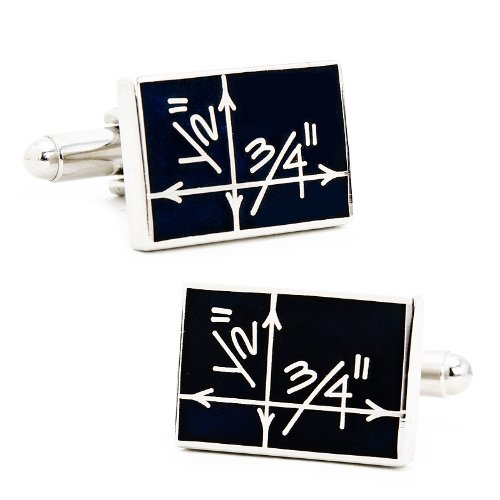 Sterling Silver Blueprint Cufflinks