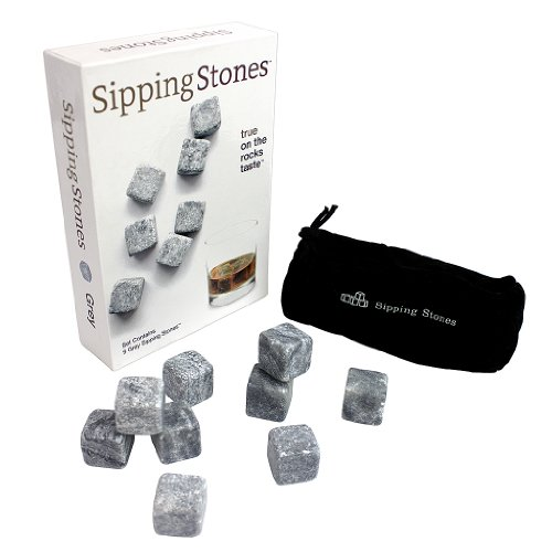 sipping-stones-set-of-9-grey-whiskey-chilling-rocks-made-of-100-percent-pure-soapstone