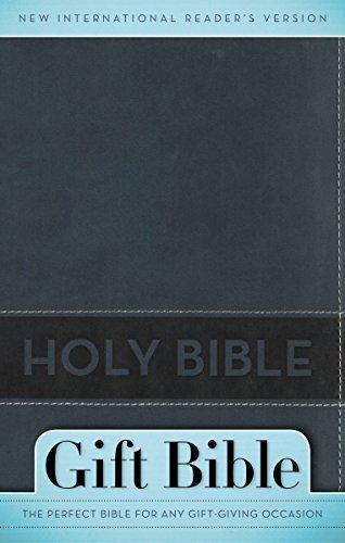 神圣的圣经: 新国际读者版本石板蓝,意大利的两名男子语气礼物圣经