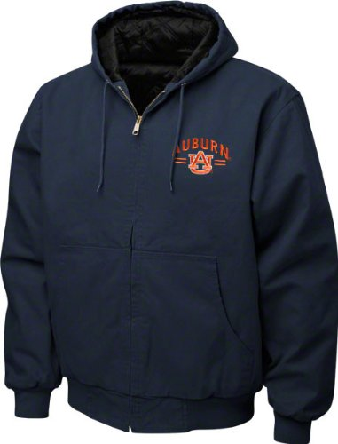 NCAA Men's Auburn Tigers Cumberland Hooded Full Zip Lined Workwear Jacket, Navy, Xx-Large at Amazon.com