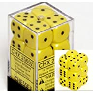 Chessex Dice d6 Sets: Opaque Yellow w…