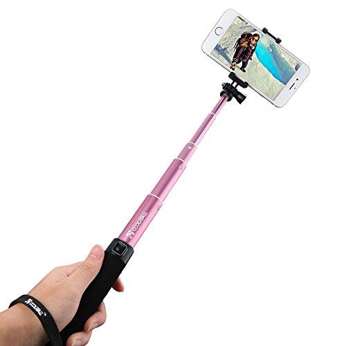 CoolreallTM-Selfie-Stick-Stange-Monopod-Blutoothoder-mit-Kabel-Selfie-Stab-fr-iphone-6-iPhone-6-Plus-5SSamsung-Galaxy-S6S5S4-Gopro-Hero-Kamera-SchwarzRosaPink