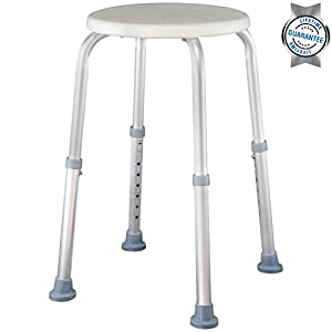 Shower Stool By Vive Adjustable Bath Seat Lightweight P