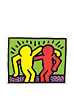 ArtopWeb Panel Decorativo Haring Pop Shop I 19x25 cm Bordo Nero