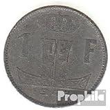 Bélgica km-No.. : 128 1944 muy ya Zinc 1944 1 Franc león encendido escudo (monedas para los coleccionistas)