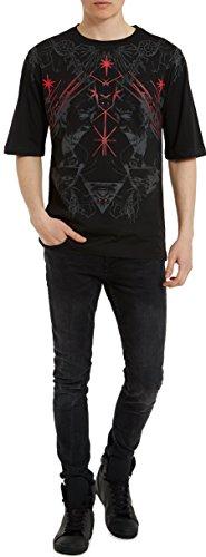 Camisetas-de-Algodn-para-Hombre-T-Shirt-Fashion-Rock-Camiseta-Negra-con-Estampada-RED-SCREAM-T-Shirts-Designer-Cool-Ropa-Moda-Moderna-para-Hombres-Cuello-redondo-Manga-corta-S-M-L-XL-XXL