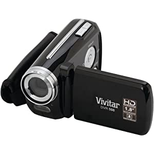 Vivitar 12 MP Digital Camcorder with 4X Digital Zoom Video Camera with 1.8-Inch LCD Screen, Black (DVR508)