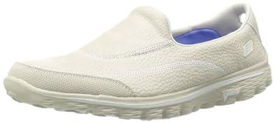 Skechers Women's Go Walk 2 Linear Fashion Sneaker,Stone,5 M US