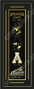 Heritage Banner Of Appalachian State With Team Color Double Matting-Framed Awesome... by Art and More, Davenport, IA