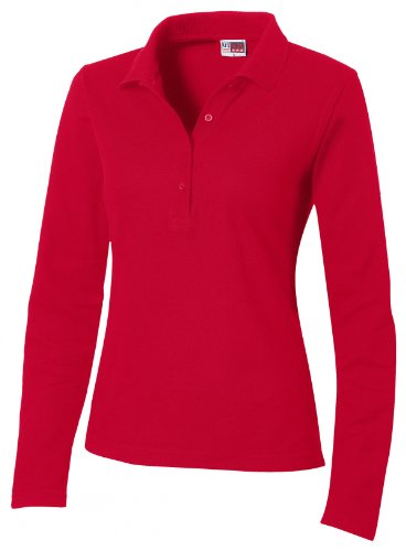 US BASIC Seattle Ladies' L/S Polo (red, XXL)