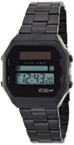 Vestal Women's LB08-1006B Valley Black Enamel Bangle Bracelet Watch