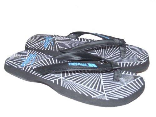 Zodiac by Trespass Mens Toe Post Flip Flops Black Sizes 5-10