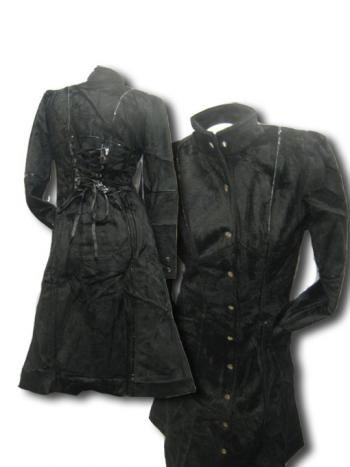 Gothic Faux Fur Coat Large