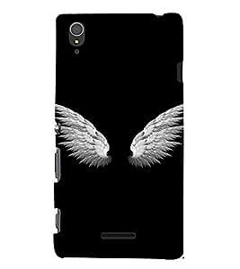 PrintVisa Angel Wings Design 3D Hard Polycarbonate Designer Back Case Cover for Sony Xperia T3